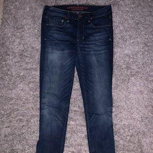 dark wash skinny American Eagle Jeans